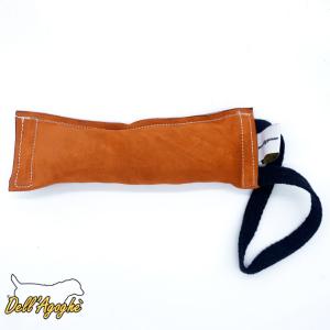 Salamotto per cani in cuoio morbido con  una o doppia maniglia con corda misura 8x25, Dell'Agoghè