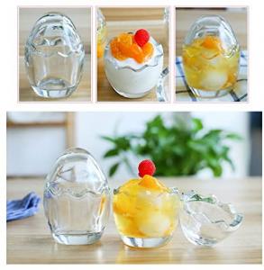 Scatola in vetro trasparente a forma di uovo cm.14h diam.10