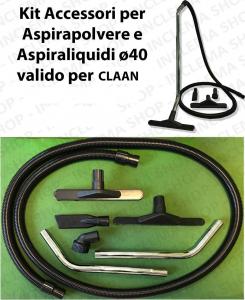 KIT tubo flessibile e Accessori per Aspirapolvere e Aspiraliquidi ø40 valido per CLAAN