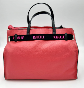 Borsa shopping Daphne in pelle bottalata magenta REBELLE