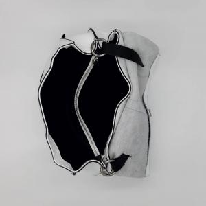 Cartella Clio in pelle bottalata bianca REBELLE