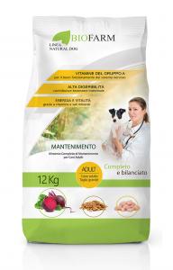 Cibo per Cani Secco, Crocchette Cane con Pollo ad Alto Contenuto Proteico, Sacco Mangime Secco Cani - 12 Kg Crocchette MANTENIMENTO