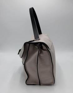 Cartella Clio in pelle bottalata crema REBELLE