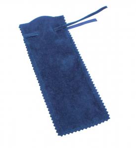 Bustina rettangolare in velluto blu