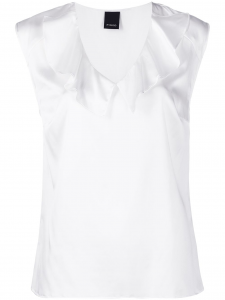 SHOPPING ON LINE PINKO CAMICIA FLUIDA IN SATIN STRETCH FASCINOSO NEW COLLECTION WOMEN'S SPRING SUMMER 2021