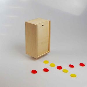 Scatola in legno con coperchio scorrevole 16,4x9