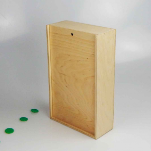 Scatola in legno con coperchio scorrevole 28,6x17