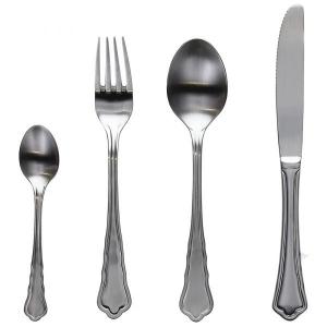 Set posate argento opaco