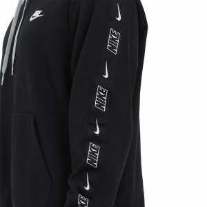 Felpa Nike con Cappuccio Nera da Uomo
