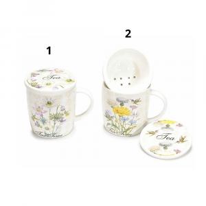 Set tazza tisaniera in ceramica con infusore
