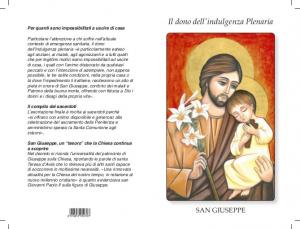 S. Giuseppe - Il dono dell'indulgenza Plenaria (100 pz)