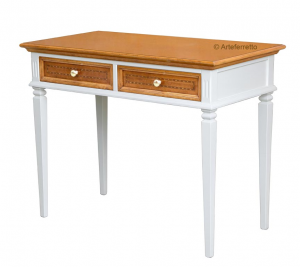 Two tone desk with inlays