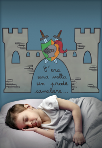 Wall sticker Once upon a time there was a brave knight