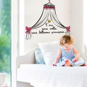 Wall sticker Once upon a time there was a beautiful princess