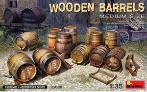 Wooden Barrels. Medium Size