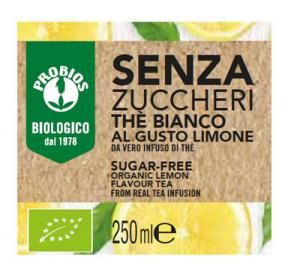 THE' BIANCO LIMONE S/ZUCC250ML