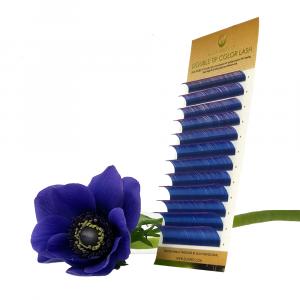 Ciglia per Extension Ombre Blu-Viola CC0,10 mix