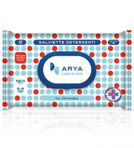 Arya - Salviette Detergenti - 2 confezioni da 40 salviette