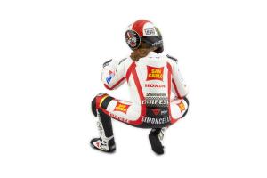 Figurine M. Simoncelli MotoGP 2011 Hanging Off 1/12 Minichamps