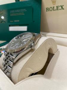 Rolex date just  126334 Rodium