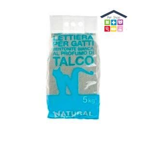Natural Code | Lettiera 100% Naturale per Gatti - Profumazione LAVANDA / 5 Kg TALCO 5 kg