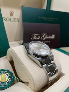 Rolex date just 115200 Silver