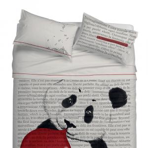 Lenzuola EFFETTO Copriletto con FEDERE GABEL Beyond Panda Grigio