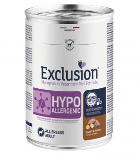 Exclusion - Veterinary Diet Canine - Hypoallergenic - 400g x 6 lattine