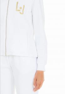 LIU JO TA1222F0090 Completo felpa bianco o nero con strass applicati