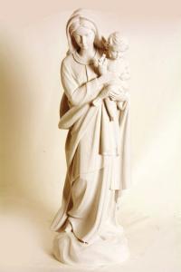 Statua Madonna con Bambino in Polvere di Marmo cm 60