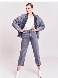 Vicolo - giacca jeans volant