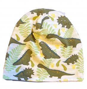Dinosauri verdi - cuffia in cotone