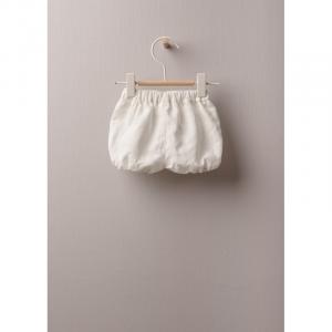 Pantaloncini in tessuto leggero di lino e cotone, ottimo per neonati e bambine, fino a 24 mesi. La morbida fascia elastica offre il miglior comfort.