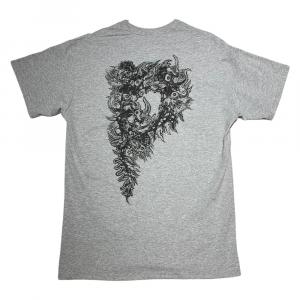 T-shirt Propaganda - Logo P Grey/black