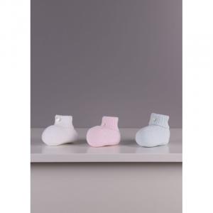 Stivaletti per neonati in maglia fine in cotone meravigliosamente morbido, ideali per neonati e bambini, fino a 24 mesi. Prodotto in intero, un pezzo unico senza cuciture, per il massimo comfort per il tuo bambino.