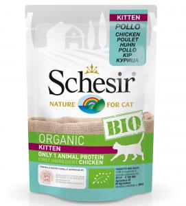 Schesir Cat - Bio - Kitten - Pollo - 85g x 16 buste