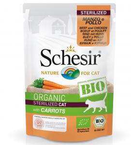 Schesir Cat - Bio - Sterilizzato - 85g x 16 buste