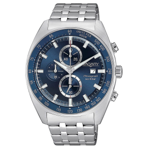 Orologio cronografo uomo in acciaio Vagary collezione Rockwell Crono