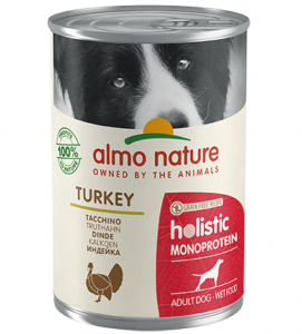 Almo Nature - Holistic Dog - Adult - Monoprotein - 400g x 6 lattine