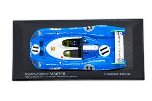 Matra Simca Ms670B 24H LM 1973 Winners Pescarolo Larrousse 1/43 Minichamps