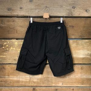 Pantaloncino Iuter Cargo Short Nero con Scritte Gialle