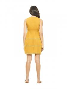 Vêtements courts femmes jaune ocre | Vêtement en ligne