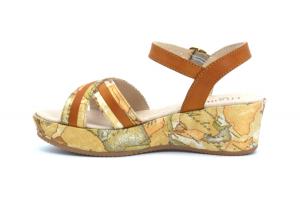 Sandalo Geo con zeppa