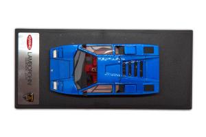 Lamborghini Countach LP400 Blue Metallic Openable 1/43 Kyosho