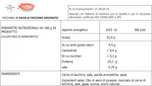 Fesa di Tacchino in varie Salse - 800gr/1,3kg