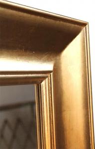 Rechteckiger Spiegel Goldrahmen Golden Wood