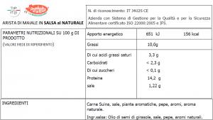 Arista di Maiale in varie Salse - 800gr/1,3kg