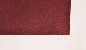 Benati Davide Fiamma Incisione Formato cm 108x107