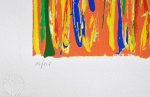 Schifano Mario Serigrafia polimaterica Formato cm 60x100