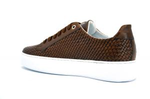 Sneaker pelle intrecciata